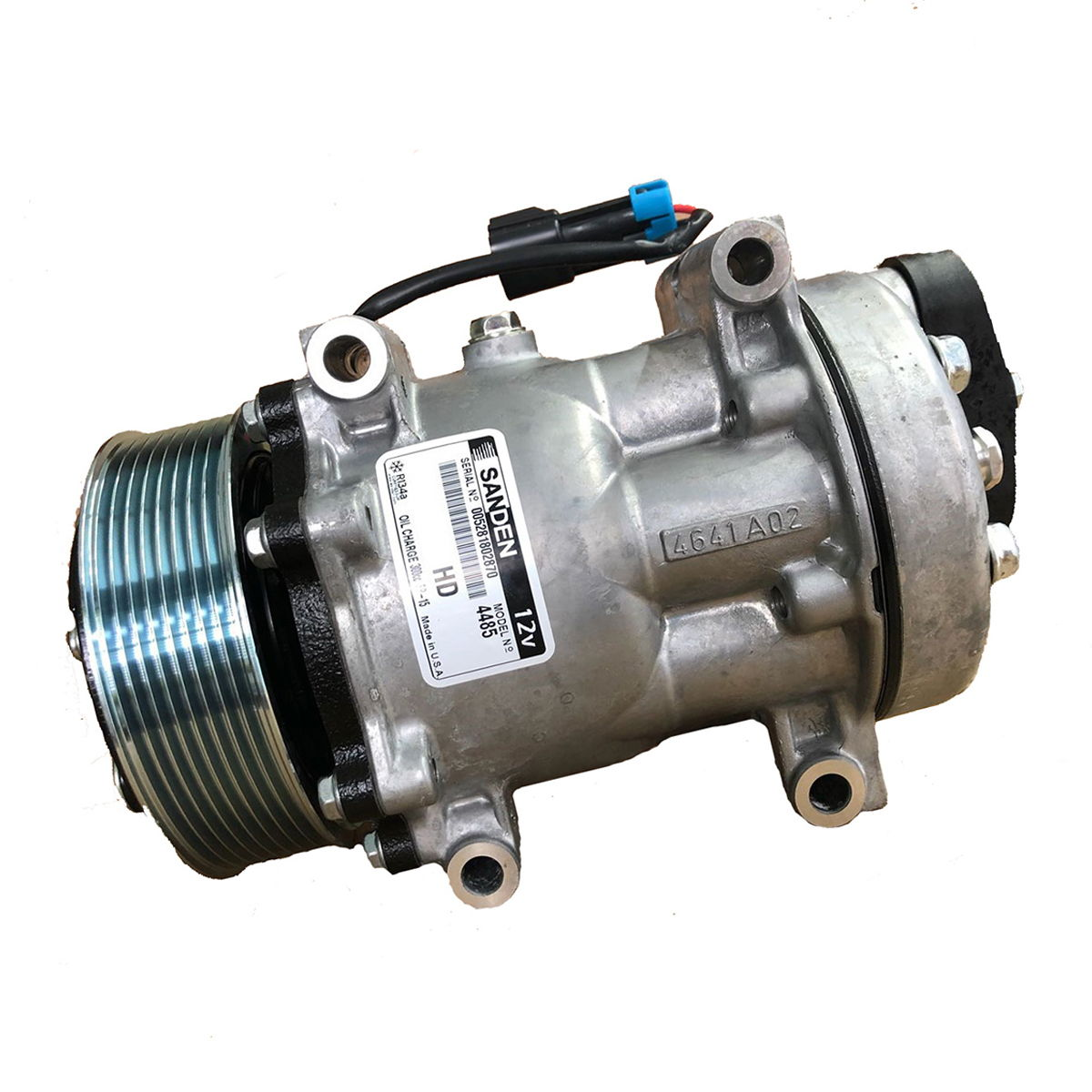 ORIGINAL SANDEN, A/C Compressor 4485 with  clutch