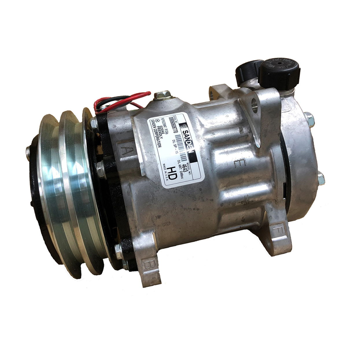 ORIGINAL SANDEN A/C Compressor and Clutch CO 4643