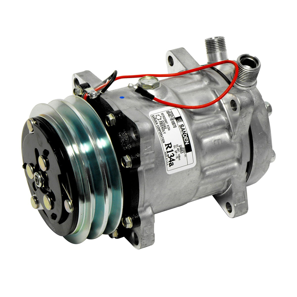 ORIGINAL SANDEN A/C Compressor with Clutch CO 4663